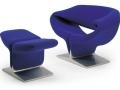 Artifort Ribbon armchair met voetenbank