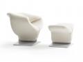 Artifort Ribbon lounge armchair fauteuil met voetenbank