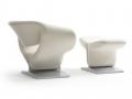 Artifort Ribbon lounge armchair leunstoel met voetenbank