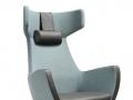 UMM leustoel fauteuil lichtblauw grijs