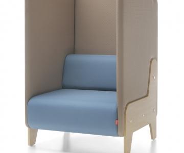 Modulair zitbank Chill Out voor wachthal rustig bellen, stilteplek, rustplek en onafgeleid telefoneren