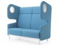 Akoestisch gescheiden modulair zitsysteem voor wachtruimte of -hal