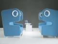 Akoestisch gescheiden phone chair, rustig bellen, stilteplek voor foyer of lobby