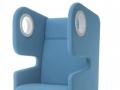Akoestisch gescheiden zitbank telefoonstoel voor wachthal