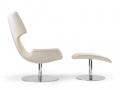Artifort Boson lobby fauteuil voetenbank wit
