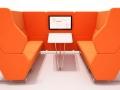 Halbanken en wachtbanken telefoonstoel, phone chair, ongestoord bellen, stilteplek, rustplek en onafgeleid telefoneren