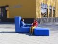 Outdoor zitbank schoolplein