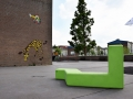 Outdoor zitmeubel voor schoolplein of ontmoetingsplek