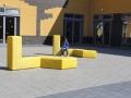 Zitsysteem buiten voor trefpunt of schoolplein