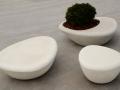 Zitbanken met beplanting voor binnen- of buitenplaats