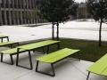 Outdoor zitbanken picknicktafel