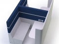 Modulaire bank Cubbi werkplek met akoestische scheidingswanden
