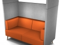 Tryst seater sofa met canopy LED akoestisch afgescheiden