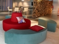 Modulair zitelement Dots voor foyer, lobby, wachthal
